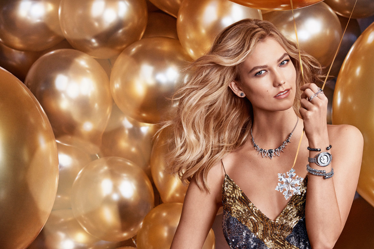 Beautiful Fashion Model Karlie Kloss Modeling For The Swarovski Advertising Campaign (Beautiful Swarovski Ads) Modeling As One Of The Highest Paid Models In The World. The World's Highest Paid Models. The Top Earning Models In The World.