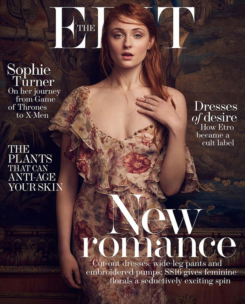 Beautiful Game Of Thrones British Actress Sophie Turner Modeling For The Cover Of The Edit (Net-A-Porter Magazine) Modeling As One Of The Highest Paid Actresses In The World.