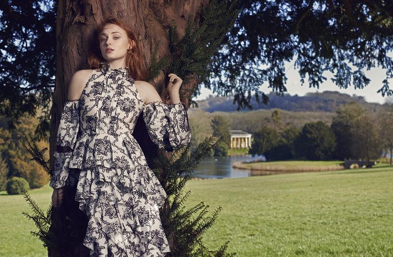 Beautiful Game Of Thrones British Actress Sophie Turner Modeling For The Edit (Net-A-Porter Magazine) Fashion Editorials Modeling As One Of The Highest Paid Actresses In The World.