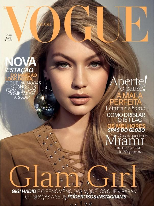 Beautiful Blonde American Fashion Model Gigi Hadid Modeling For The Cover Of Vogue Brasil (Vogue Brazil) And Vogue Brasil Fashion Editorials Modeling As One Of The Highest Paid Models In The World. The World's Highest Paid Models. The Top Earning Models In The World.