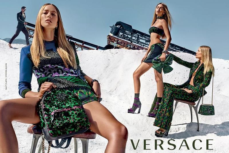 Beautiful Blonde Versace Fashion Model Gigi Hadid Modeling For Versace Advertisements (Beautiful Versace Ads) Modeling As One Of The Highest Paid Models In The World. The World's Highest Paid Models. The Top Earning Models In The World.