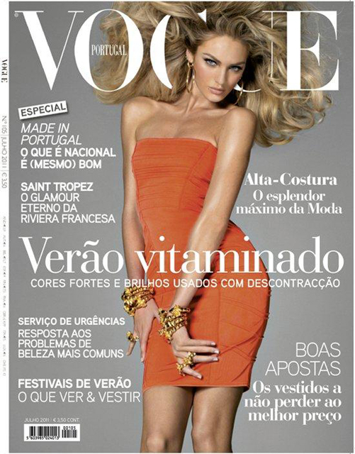 Beautiful Victoria's Secret Blonde Model Candice Swanepoel Modeling For The Cover Of Vogue Portugal Photographed By Steven Meisel For Vogue Portugal High Fashion Editorial