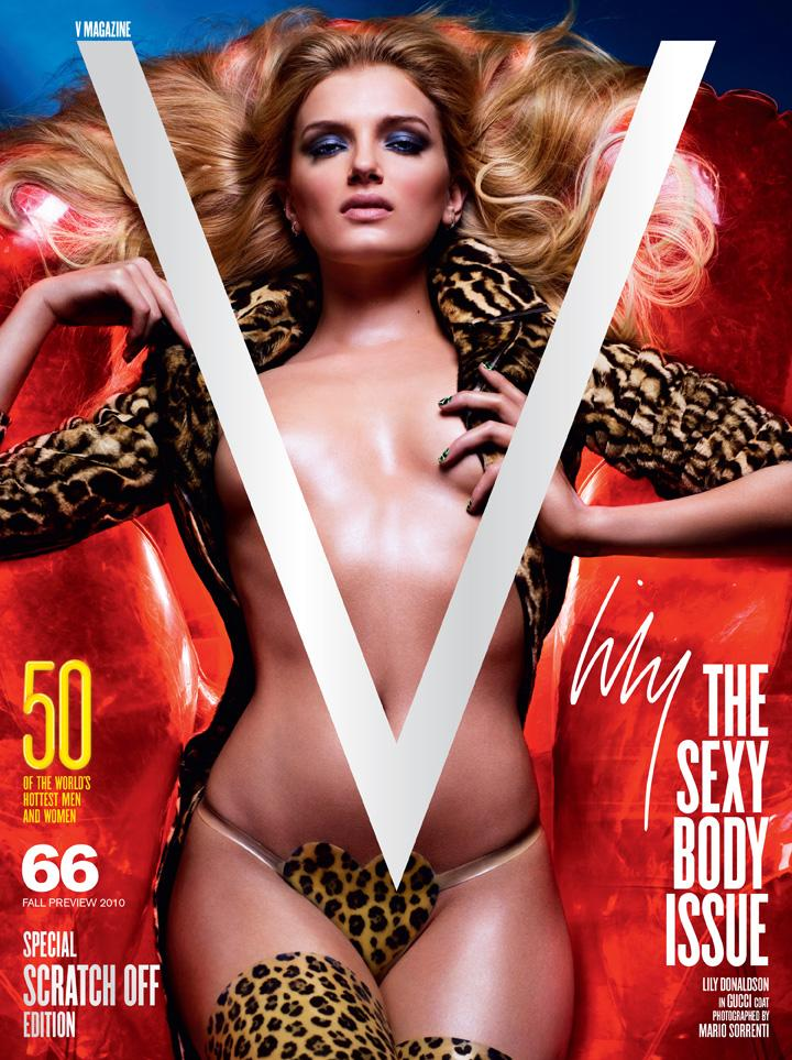 Beautiful Blonde 7 For All Mankind Model Lily Donaldson Modeling For The Cover Of V Magazine For The Sexy Body Issue In Sexy Gucci Coat Photographed By Mario Sorrenti For V Magazine Fashion Editorials.
