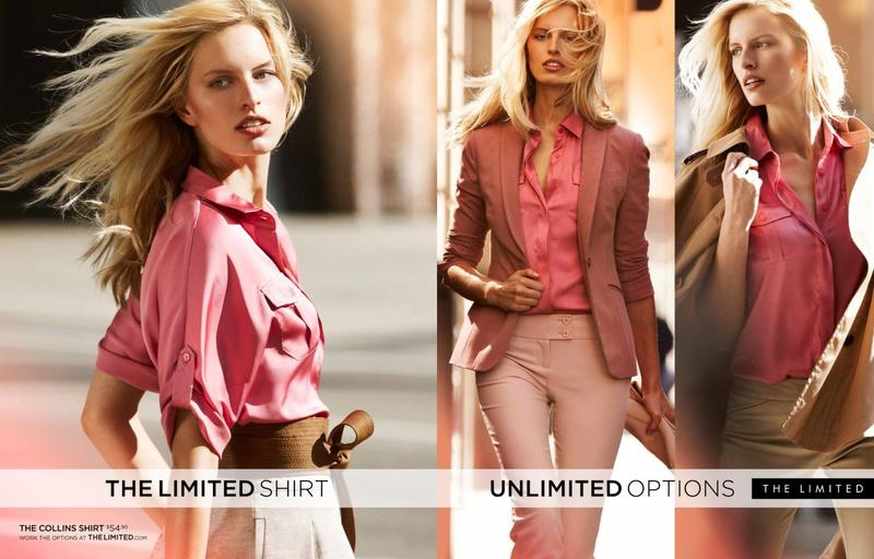 Beautiful Blonde Model From Czechoslovakia Karolina Kurkova Modeling For The Limited Spring Summer Fashion Advertising Campaign Modeling The Limited Shirts For The Limited Fashion Advertisements And Limited Ads