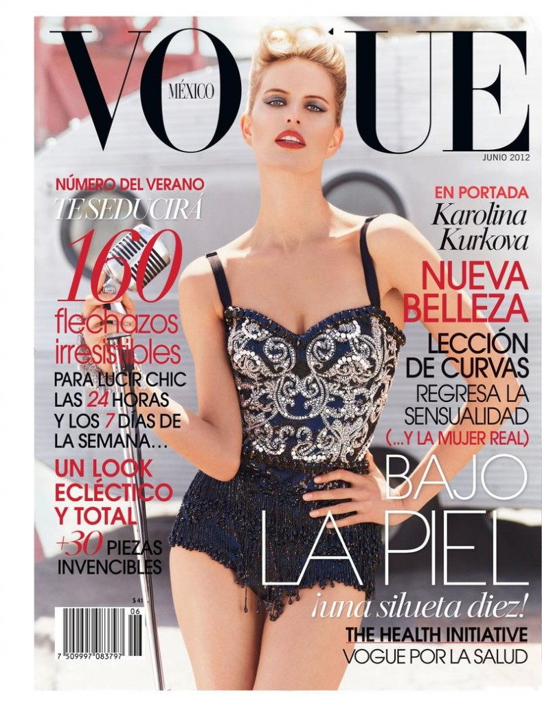 Beautiful Czech Victoria's Secret Model Karolina Kurkova Modeling For The Cover Of Vogue Mexico Magazine Photographed By Mariano Vivanco For Vogue Mexico Fashion Editorials