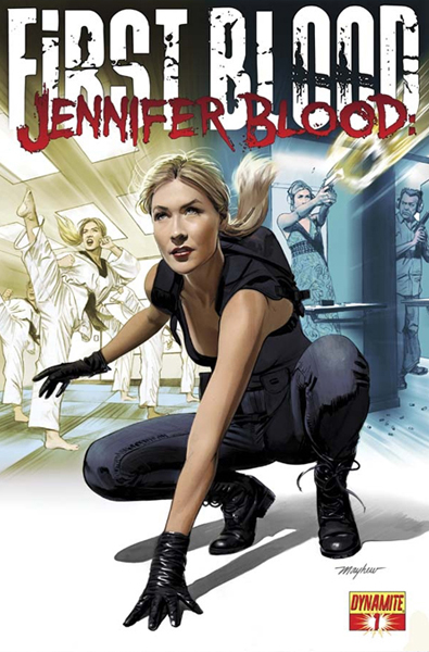Beautiful Blonde ZARZAR MODELS Laurie Mannette Modeling For The Cover Of Jennifer Blood First Blood Comic Books By Dynamite Comics ZARZAR MODELING AGENCY Model.