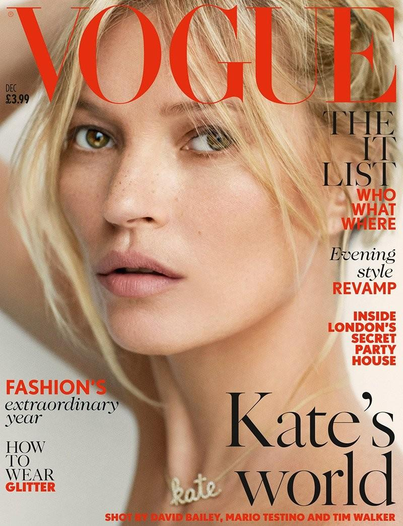 Beautiful British Blonde Supermodel Kate Moss Modeling For The Cover Of British Vogue And British Vogue Fashion Editorials Modeling As One Of The Richest Models In The World.