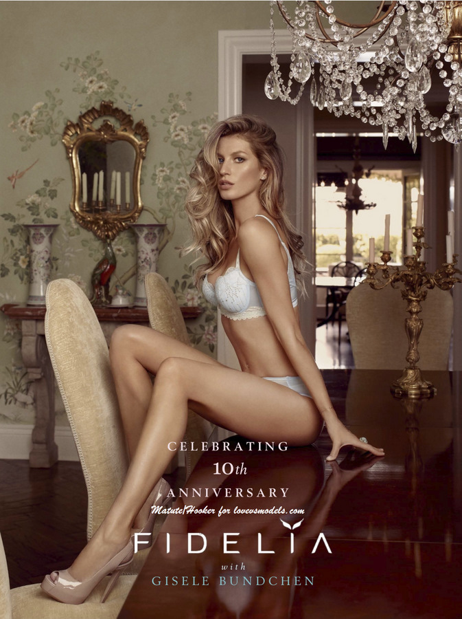 Beautiful Fidelia Models Gisele Bundchen Modeling In Sexy White Fidelia Lingerie Modeling For Fidelia Fashion Ads. Gisele Bundchen Richest Models In The World.