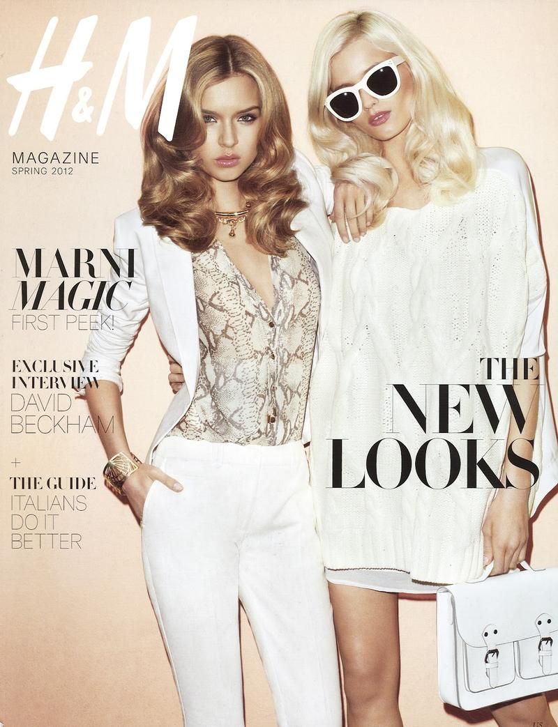 Beautiful H&M Models Modeling For The Cover Of H&M Magazine H&M Models Abbey Lee Kershaw And Josephine Skriver The Highest Paid Models In The World Photographed By Terry Richardson.