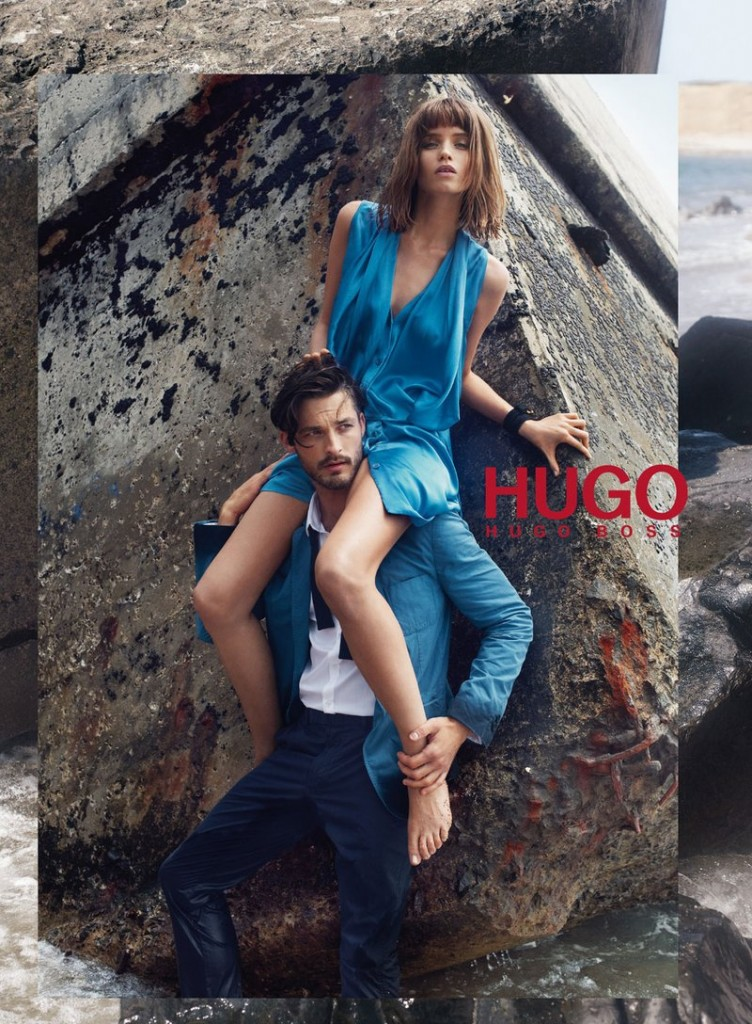 Beautiful Hugo Boss Model Abbey Lee Kershaw Modeling For Hugo Boss Spring Summer Fashion Advertising Ad Campaign As One Of The Highest Paid Models In The World.