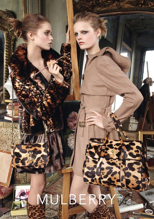 Beautiful Mulberry Models Abbey Lee Kershaw And Hanne Gaby Odiele Modeling For Mulberry Advertising Ad Campaigns Mulberry Models Abbey Lee Kershaw And Hanne Gaby Odiele Highest Paid Models In The World Makeup By Makeup Artist Pat McGrath Hair By Hair Stylist Guido Palau For Mulberry Ads.