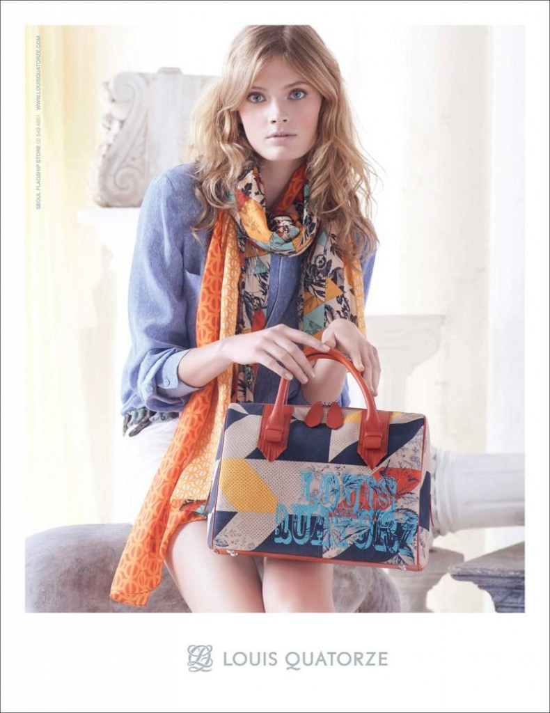 Beautiful French Blonde Victoria's Secret Model Constance Jablonski Modeling For Louis Quatorze Spring Summer Fashion Advertising Campaign Modeling As One Of The Highest Paid Models In The World.