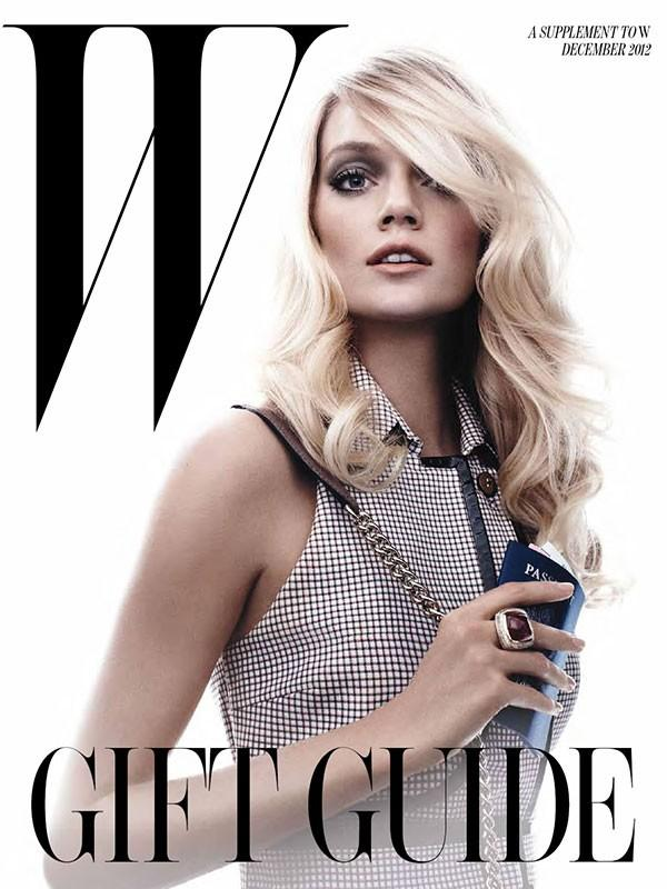 Beautiful Blonde Victoria's Secret Model Lindsay Ellingson Modeling For The Cover Of W Magazine Modeling For W Magazine Fashion Editorials As One Of The Highest Paid Models In The World.