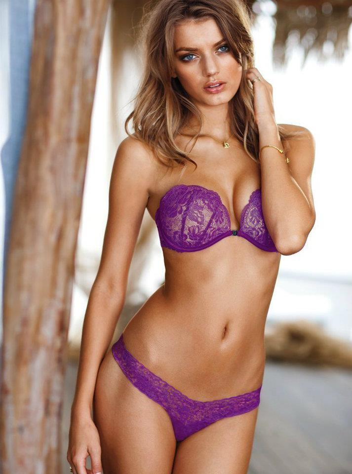 Beautiful Victoria's Secret Dutch Model Bregje Heinen Modeling For Victoria's Secret Lingerie Modeling In Sexy Hot Purple Bras And Panties For Fashion Ads Beauty Makeup Tips Tutorials For The Eyes And Lips.