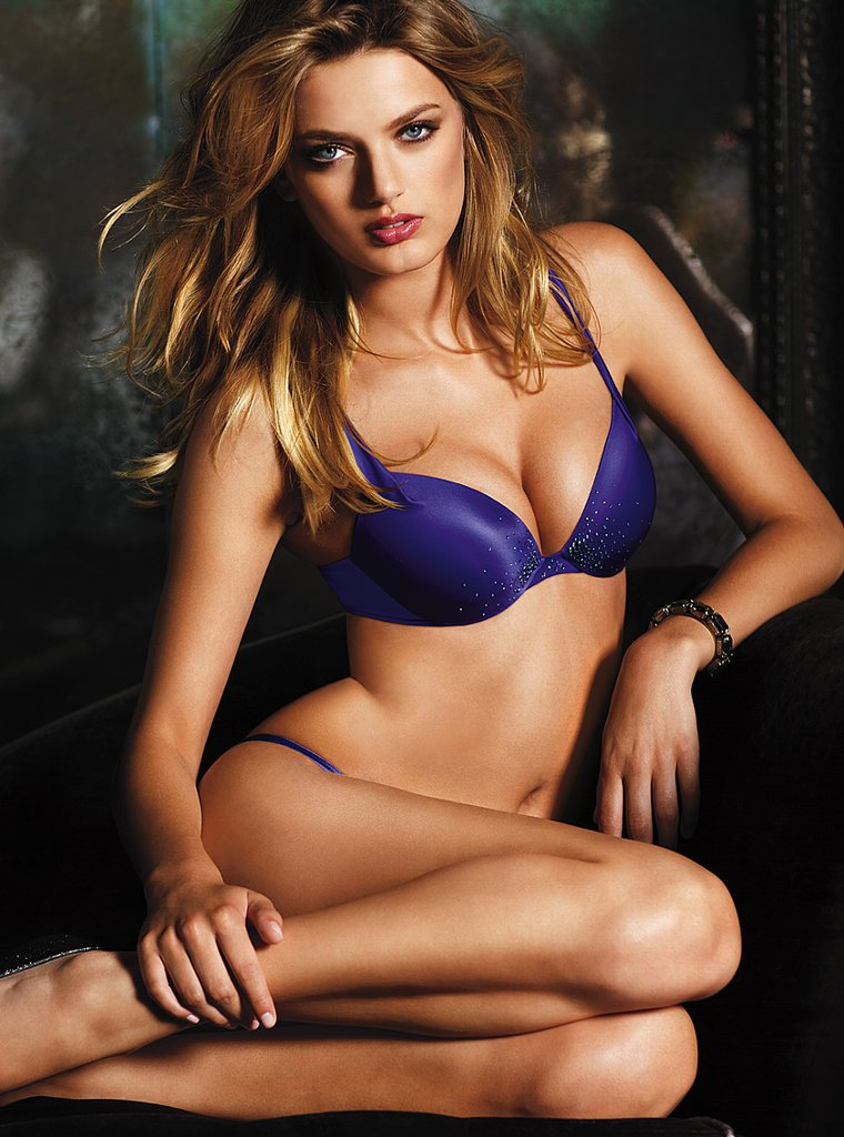 Beautiful Victoria's Secret Dutch Model Bregje Heinen Modeling For Victoria's Secret Lingerie Modeling In Sexy Blue Bras And Panties For Fashion Ads Beautiful Eyes And Lips Makeup Tips Tutorials For How To Look Like A Victoria's Secret Angel Model.