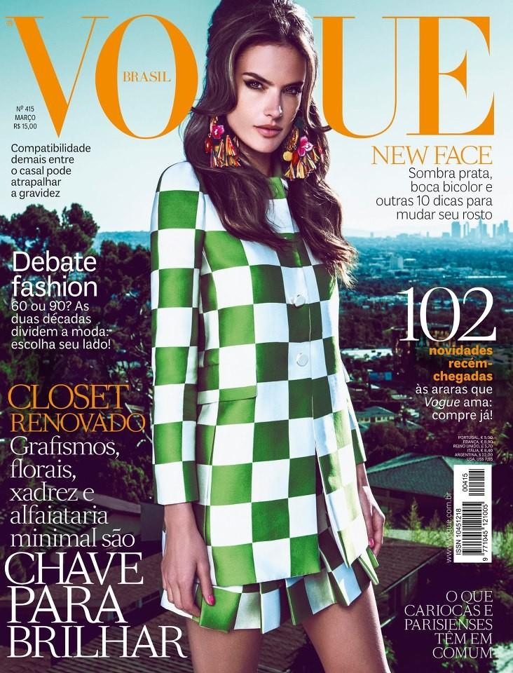 Beautiful Brazilian Model Alessandra Ambrosio Modeling For The Cover Of Vogue Brasil (Vogue Brazil) Magazine Photographed By Fabio Bartelt For Vogue Brasil Fashion Editorials As One Of The Highest Paid Models In New York.