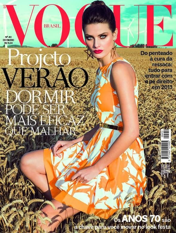 Beautiful Brunette Brazilian Model Isabeli Fontana Modeling For The Cover Of Vogue Brasil (Vogue Brazil) Magazine And Vogue Brasil Fashion Editorials Photographed By Vogue Photographer Jacques Dequeker.