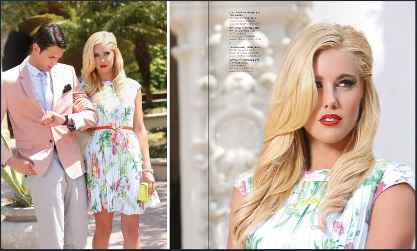 Beautiful Blonde ZARZAR MODELS Jessica Harbour Modeling In Beautiful Del Mar At The Del Mar Racetracks (Del Mar Thoroughbred Club) In San Diego County Southern California Modeling For Locale Magazine Orange County Summer 2013 Fashion Issue.