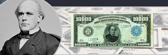 The $10,000 Dollar Bill Printed By The United States Government. The $10,000 Dollar Bill Is The Second Highest Legal Dollar Bill Ever Printed By The United States Treasury And Issued In The Year 1918.