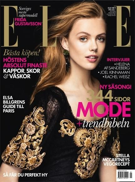 Beautiful Swedish Blonde Model With Blue Eyes Frida Gustavsson Modeling For The Cover Of Elle Sweden Magazine Modeling For Elle Sweden Fashion Editorials Modeling As One Of The Highest Paid Models In The World.