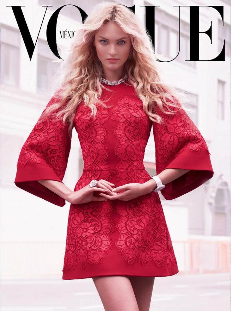 Beautiful Blonde Victoria's Secret Model Candice Swanepoel Modeling For The Cover Of Vogue Mexico Magazine Wearing Beautiful Makeup. Victoria's Secret Model Candice Swanepoel Had Her Beautiful Blonde Hair Styled By Hair Stylist Fernando Torrent And Her Beautiful Makeup Done By Makeup Artist Ayami Nishimura.