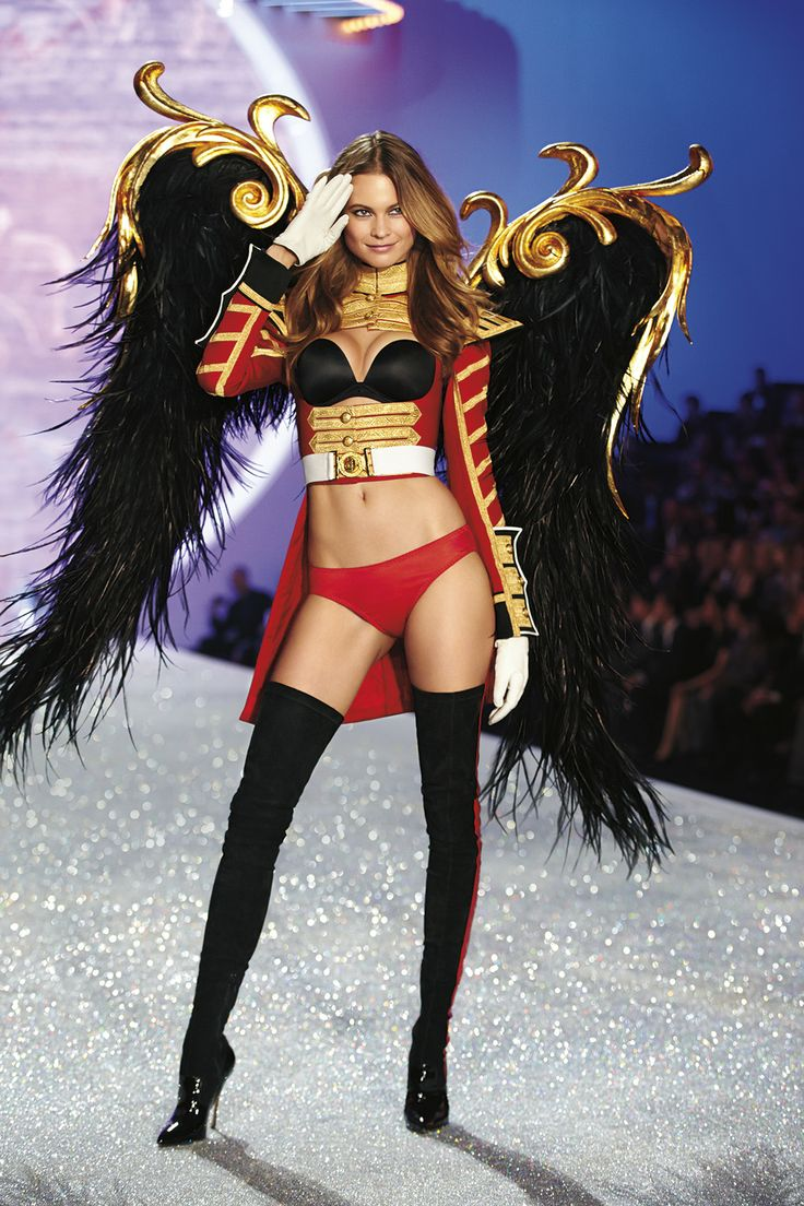 The Victoria's Secret Fashion Show Featuring Beautiful Namibian African Victoria's Secret Model Behati Prinsloo Modeling For The Victoria's Secret Fashion Runway Show After Successful Victoria's Secret Fittings.