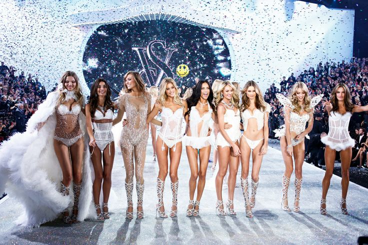 The Victoria's Secret Fashion Show Featuring Beautiful Victoria's Secret Models Modeling For The Victoria's Secret Fashion Runway Show After Successful Victoria's Secret Fittings.