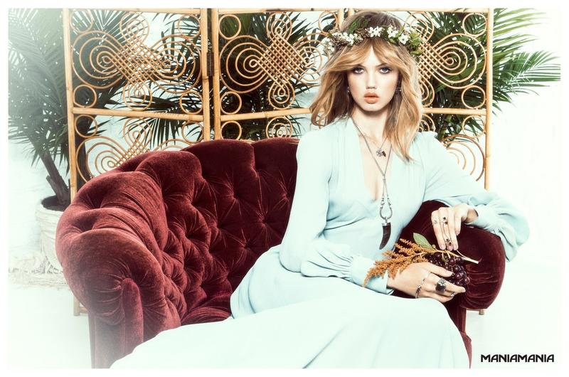 Beautiful American Fashion Model Lindsey Wixson (From Kansas) Modeling For Australian Jewelry Company Maniamania Fashion Ads And Maniamania Jewelry Fashion Advertisements Modeling As One Of The Highest Paid Models In The World.