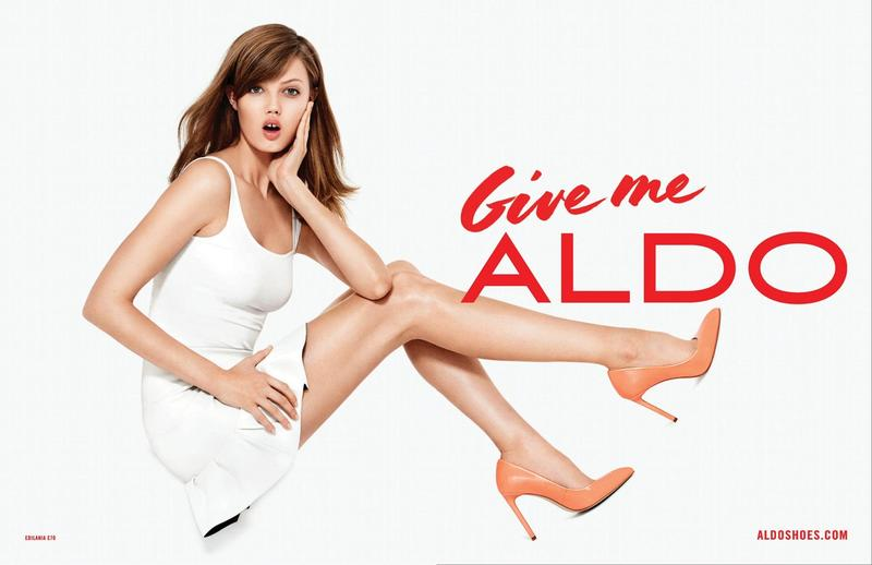 Beautiful American Fashion Model Lindsey Wixson (From Kansas) Modeling For Canadian Shoe Company ALDO Fashion Ads And ALDO Shoes Fashion Advertisements Modeling As One Of The Highest Paid Fashion Models In The World.