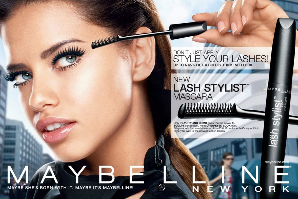 Beautiful Brazilian Fashion Model Adriana Lima Modeling For Maybelline Fashion Ads Modeling As One Of The Highest Paid Models In Brazil (Brasil).