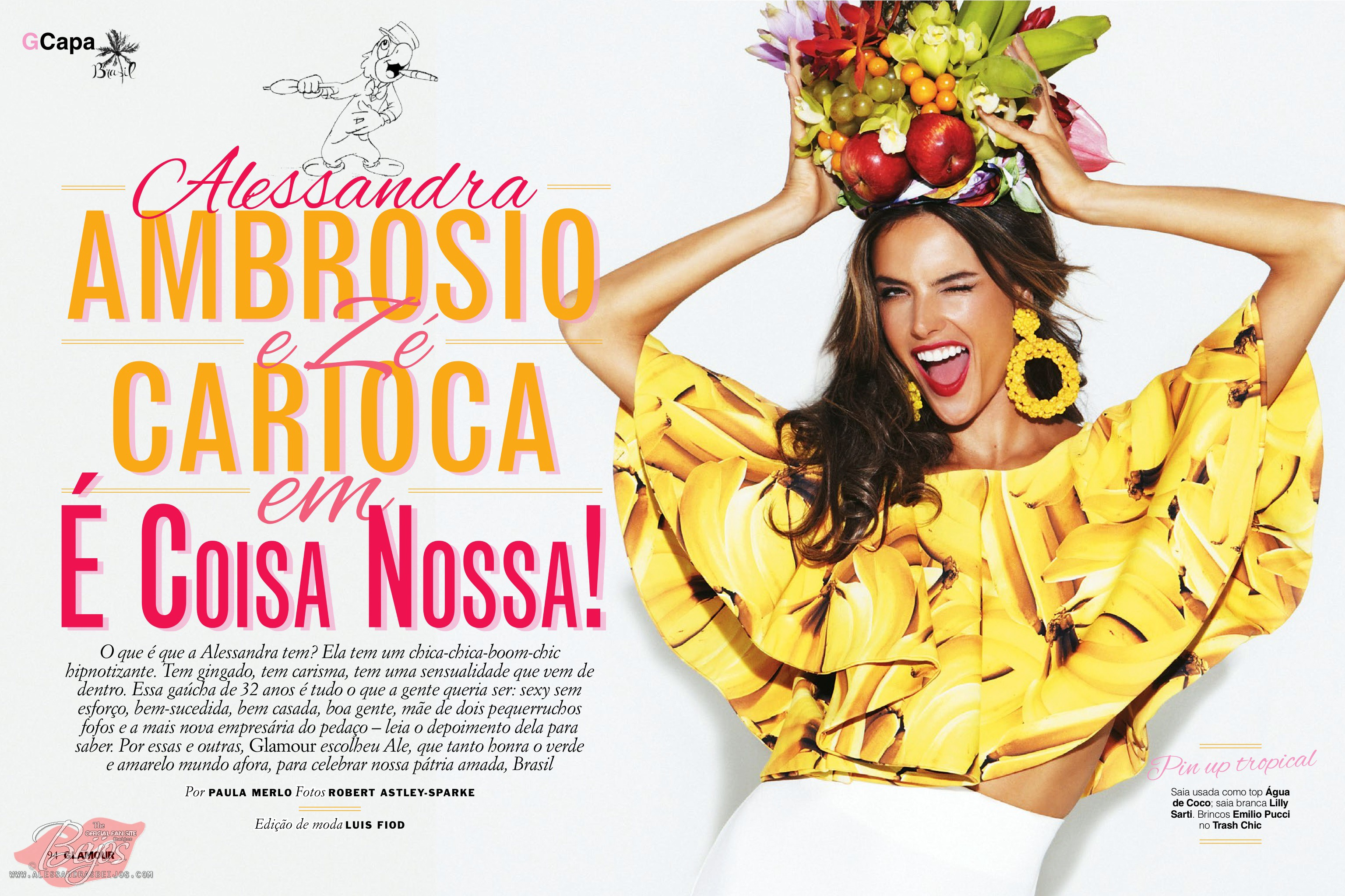 Beautiful Brazilian Fashion Model Alessandra Ambrosio Modeling For Glamour Brazil (Glamour Brasil) Magazine Modeling As One Of The Highest Paid Models In Brazil (Brasil).