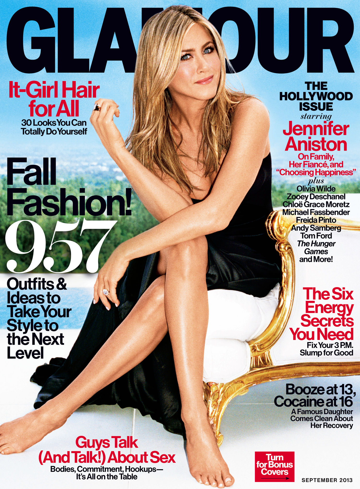 Beautiful American Actress Jennifer Aniston Modeling For The Cover Of Glamour Magazine Modeling As One Of The Highest Paid Actresses In The World (The World's Highest Paid Actresses And Top Earning Actresses In Hollywood) With Acting Earnings Of $31 Million Dollars For The Year.