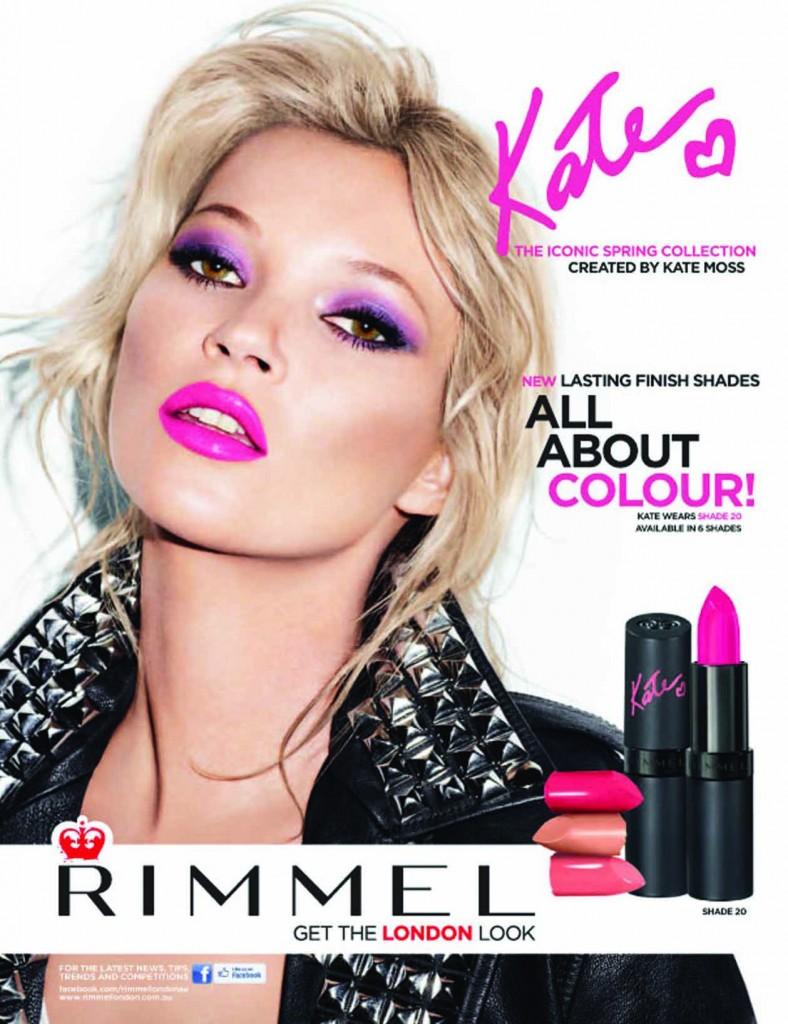 Beautiful Blonde British Fashion Model Kate Moss Modeling ...