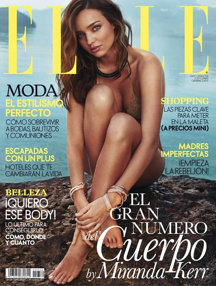 Beautiful Brunette Australian Fashion Model Miranda Kerr Modeling For The Cover Of Elle Spain And Elle Spain Fashion Editorials Modeling As One Of The Highest Paid Models In The World.