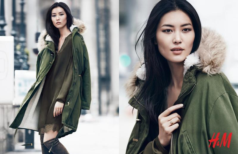 Beautiful Chinese Model Liu Wen Modeling For H&M Ads And H&M Fashion Advertisements Modeling As One Of The Highest Paid Models In The World. The World's Highest Paid Models.