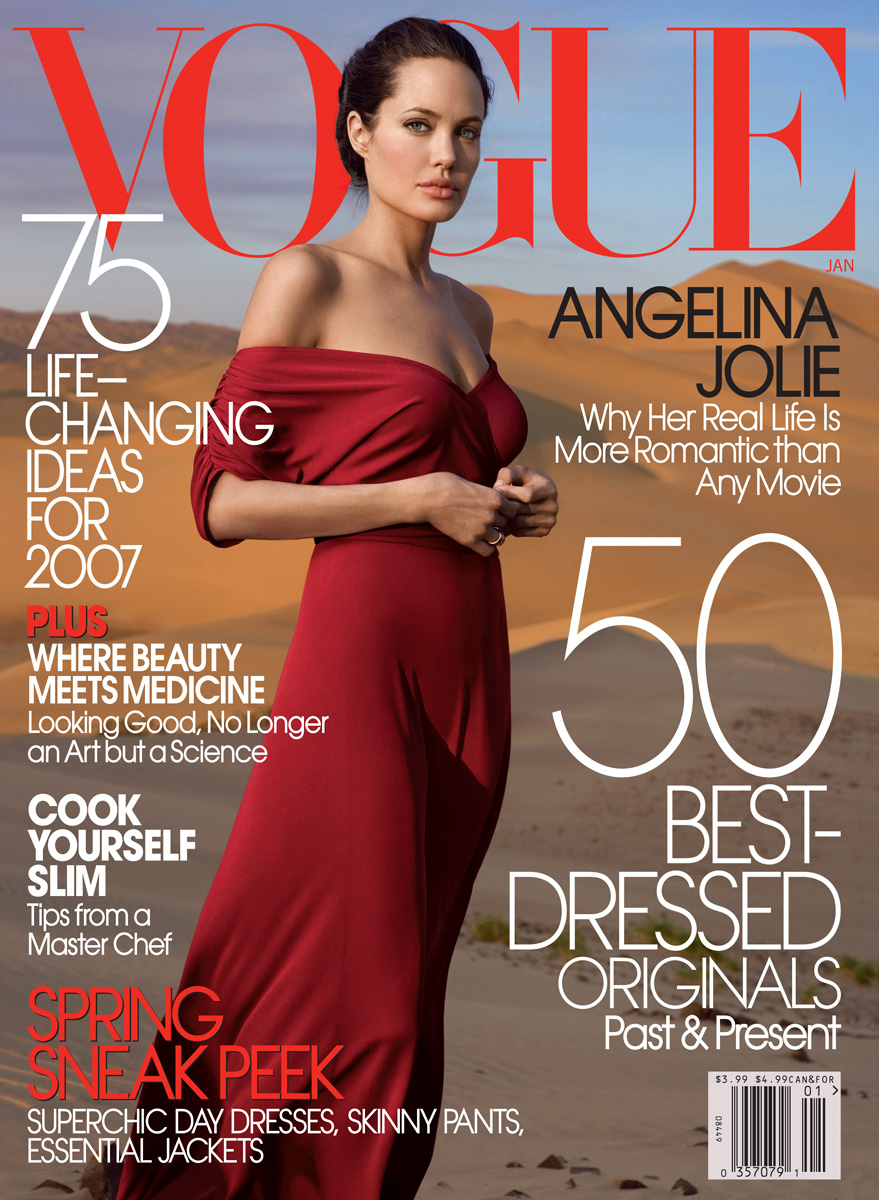 Beautiful American Actress Angelina Jolie Modeling For The Cover Of Vogue Modeling As One Of The Highest Paid Actresses In The World. The World's Highest Paid Actresses. The Top Earning Actresses In Hollywood.