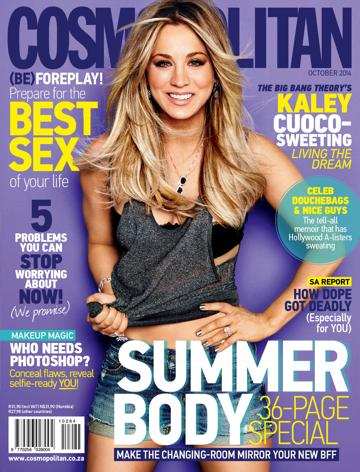 Beautiful American Actress Kaley Cuoco Modeling For The Cover Of Cosmopolitan South Africa Modeling As One Of The Highest Paid Actresses In The World. The World's Highest Paid Actresses. The Top Earning Actresses In Hollywood.