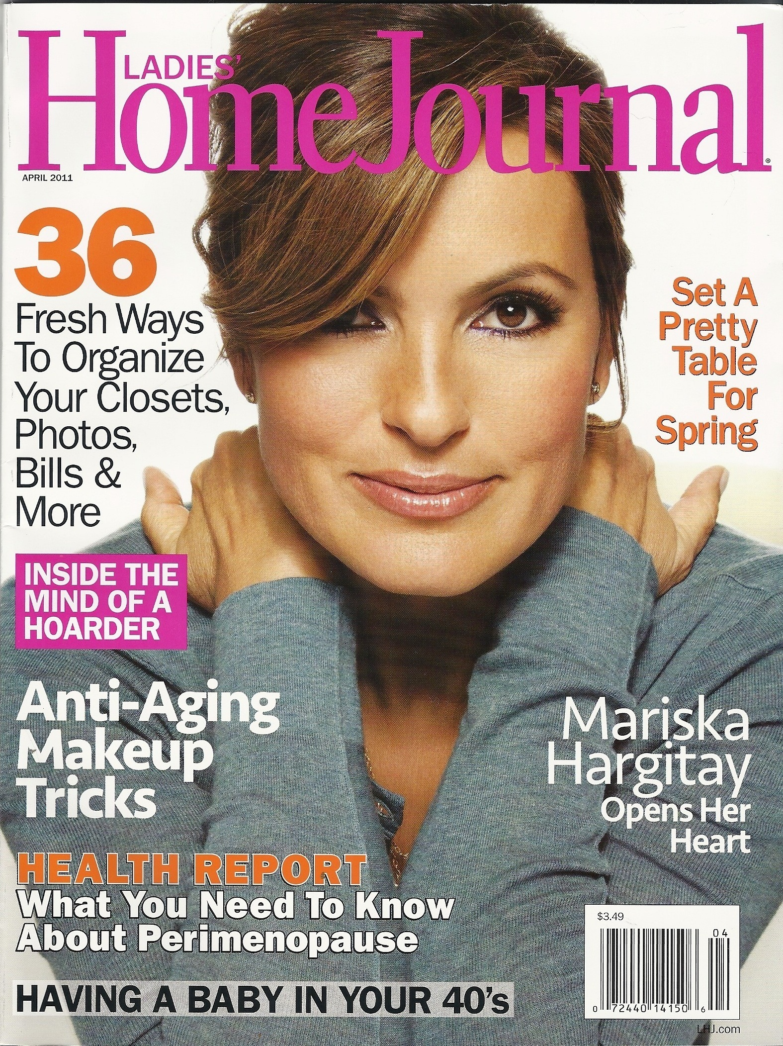 Famous American Actress Mariska Hargitay Modeling For The Cover Of Ladies' Home Journal Modeling As One Of The Highest Paid Actresses In The World. The World's Highest Paid Actresses. The Top Earning Actresses In Hollywood.