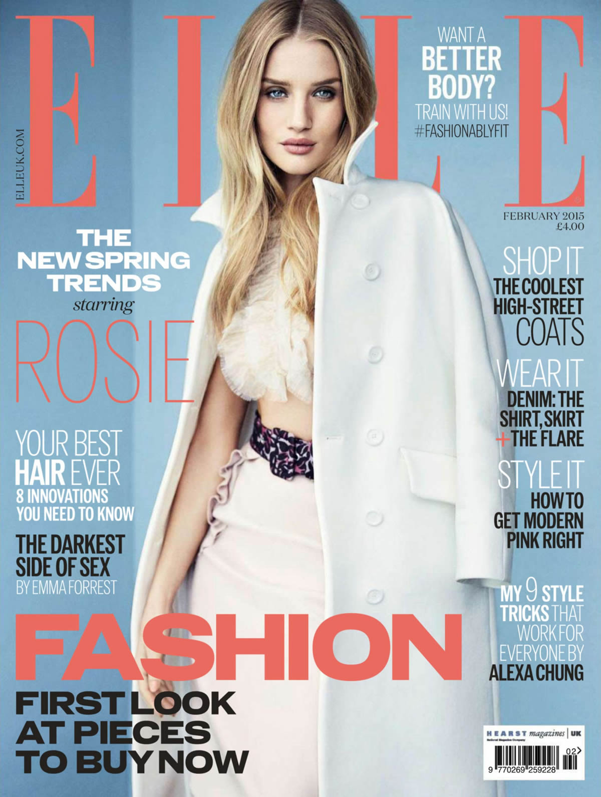 Beautiful British Supermodel Rosie Huntington-Whiteley Hair Tutorials