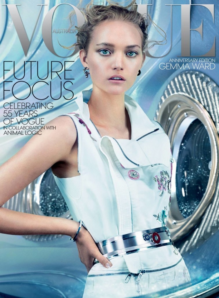 Beautiful Australian Fashion Model Gemma Ward Modeling For The Cover Of Vogue Australia Modeling As One Of The Highest Paid Models In The World.