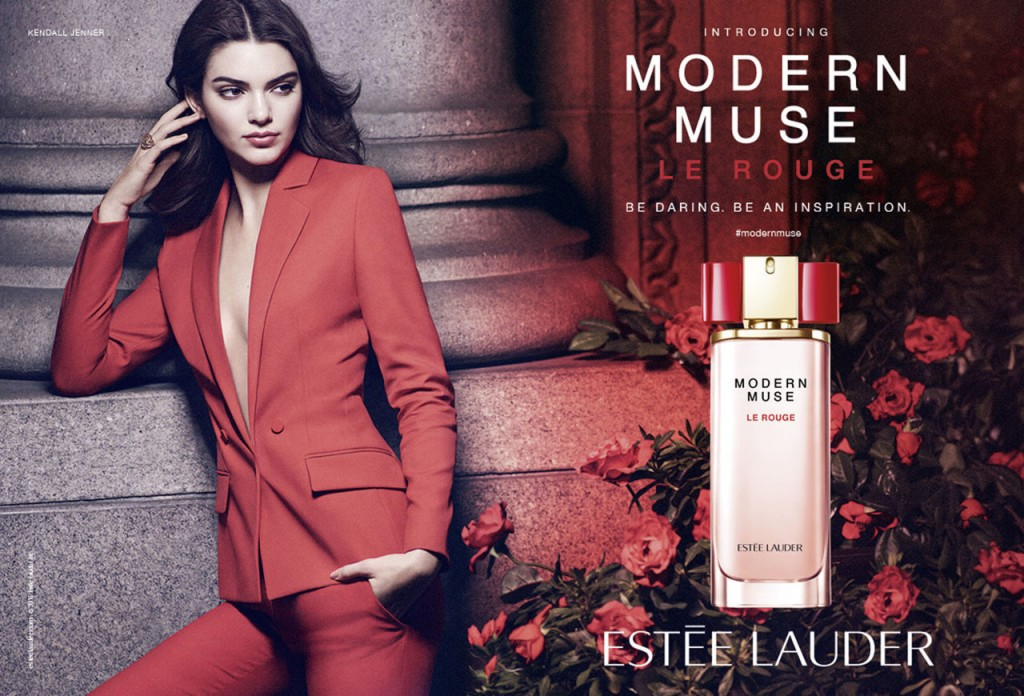 Beautiful American Fashion Model Kendall Jenner Modeling For Estee Lauder Fragrance Advertisements (Perfume Ads) Modeling As One Of The Highest Paid Models In The World. The World's Highest Paid Models.