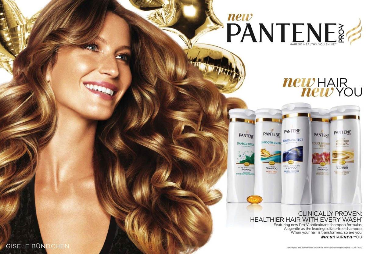 Beautiful Brazilian Fashion Model Gisele Bundchen Modeling For Pantene Advertisements (Beautiful Pantene Ads) Modeling As The Highest Paid Model In The World. The World's Highest Paid Model. The Top Earning Model In The World.