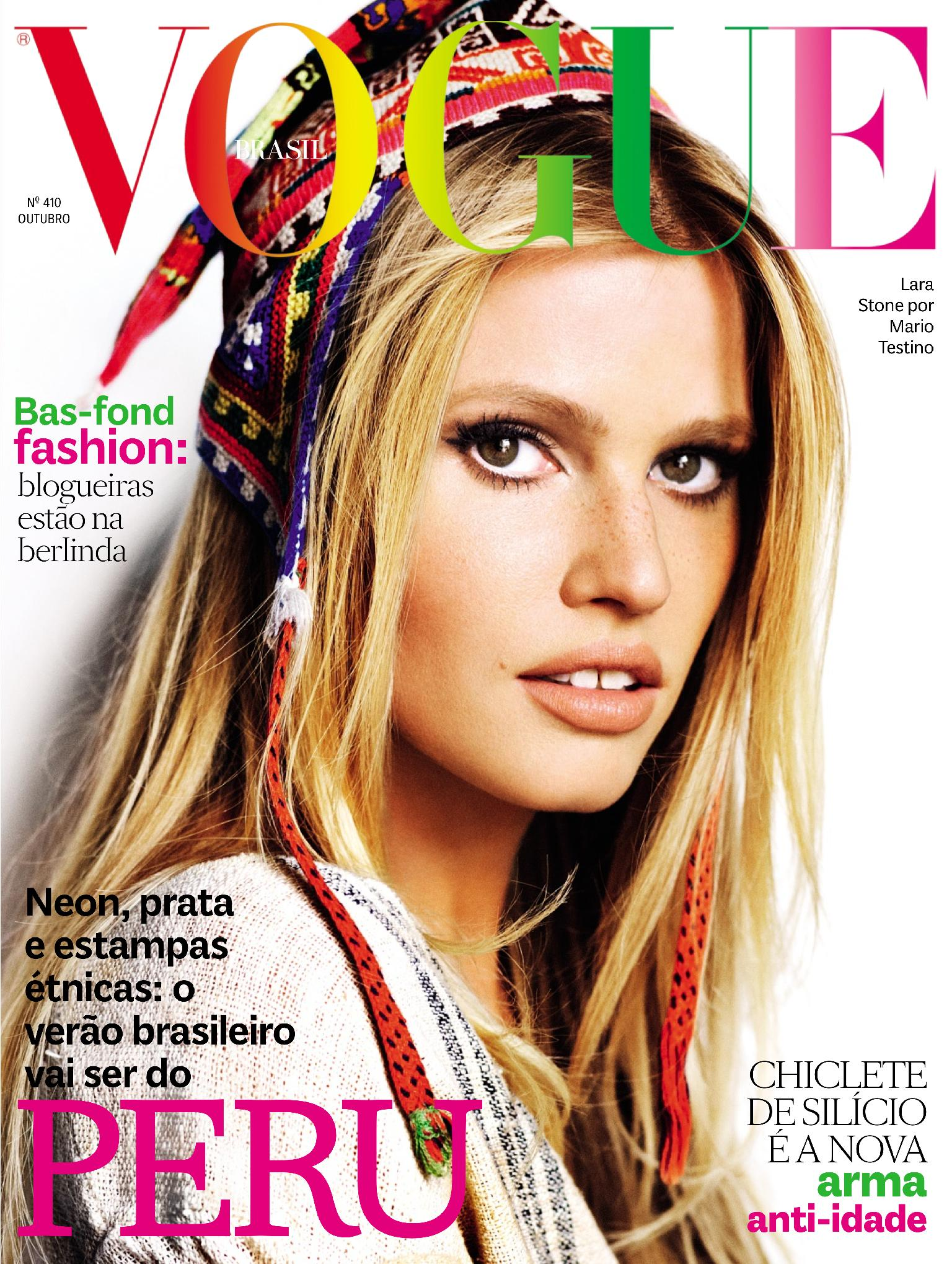 Beautiful Dutch Model Lara Stone Modeling For The Cover Of Vogue Brasil And Vogue Brasil Fashion Editorials Modeling As One Of The Highest Paid Models In The World.