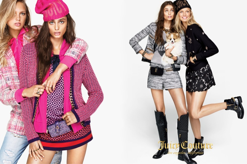 Beautiful Juicy Couture Models Romee Strijd And Taylor Hill Modeling For The Fall Winter Juicy Couture Advertising Campaign (Juicy Couture Ad Campaign).