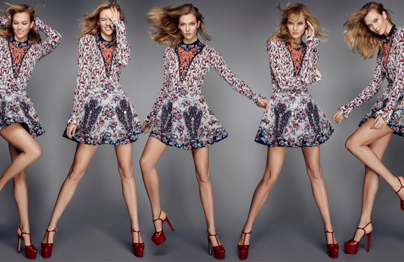 Beautiful American Fashion Model Karlie Kloss Modeling For Elle United Kingdom (Elle UK) Fashion Editorials Modeling As One Of The Highest Paid Models In The World.
