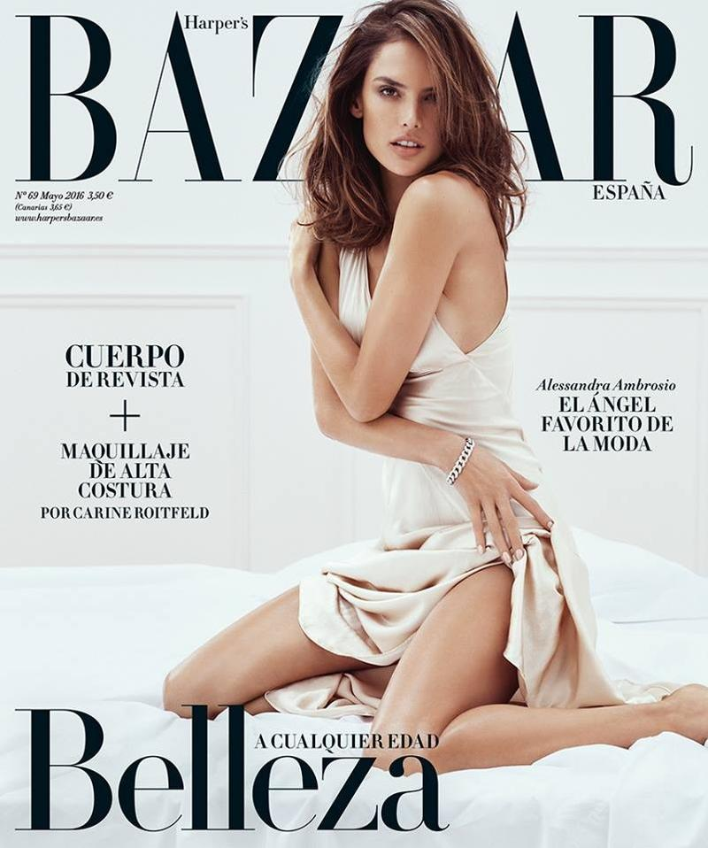 Beautiful Brazilian Fashion Model Alessandra Ambrosio Modeling For The Cover Of Harper's Bazaar Spain And Harper's Bazaar Spain Fashion Editorials Modeling As One Of The Highest Paid Models In The World.