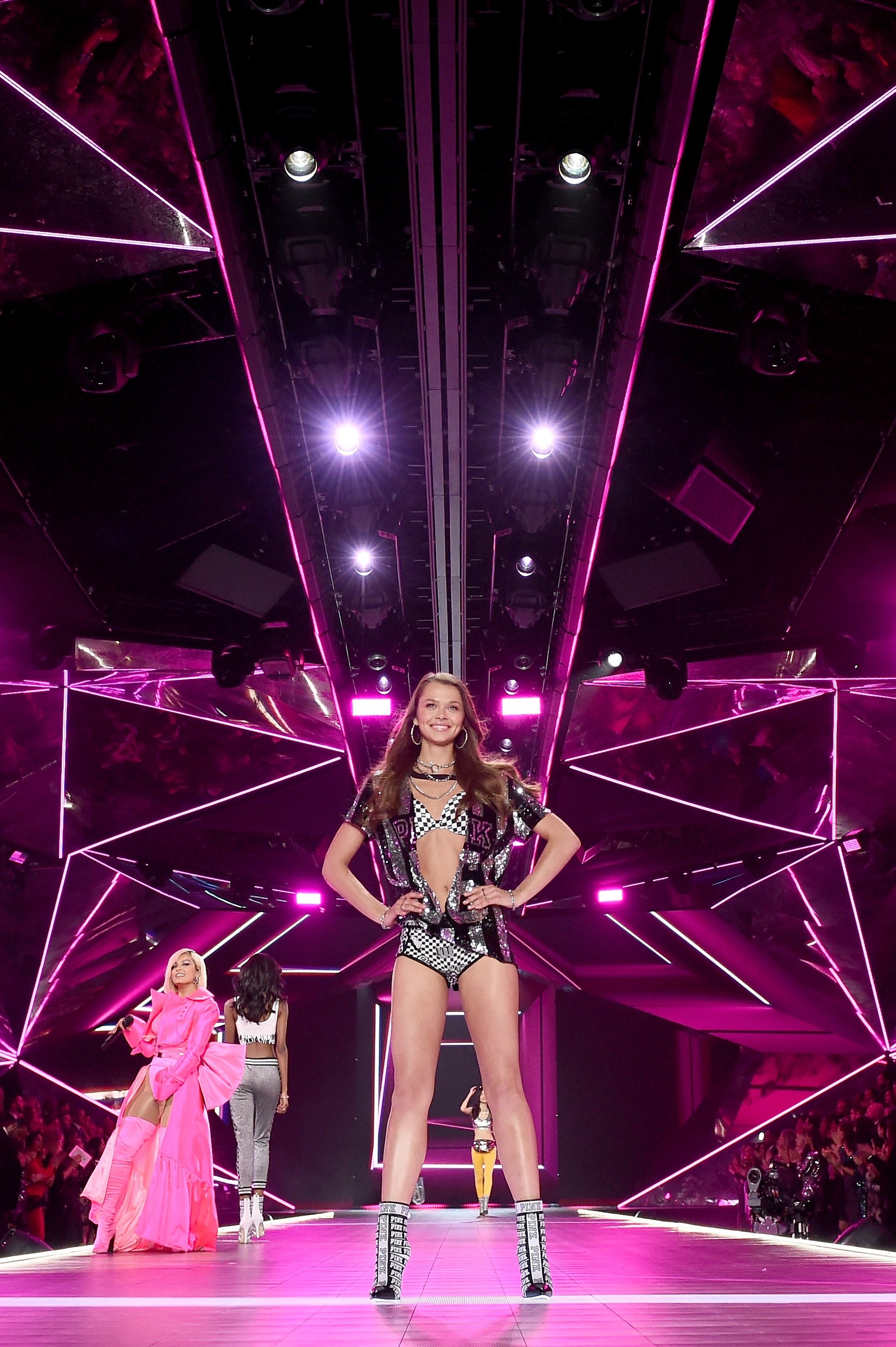 Beautiful Victoria's Secret Model Alannah Walton Modeling For The Victoria's Secret Fashion Show PINK Theme.