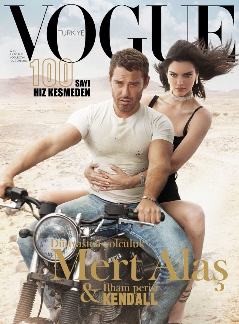 Beautiful Brunette Fashion Model Kendall Jenner Modeling For The Cover Of Vogue Turkey Modeling As The Highest Paid Model In The World. The World's Highest Paid Model. The Top Earning Model In The World.