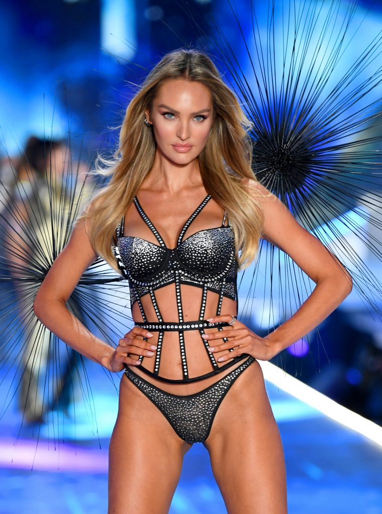 Beautiful Fashion Model Candice Swanepoel Modeling For The Victoria's Secret Fashion Show In Beautiful New York City Modeling As One Of The Highest Paid Models In The World.