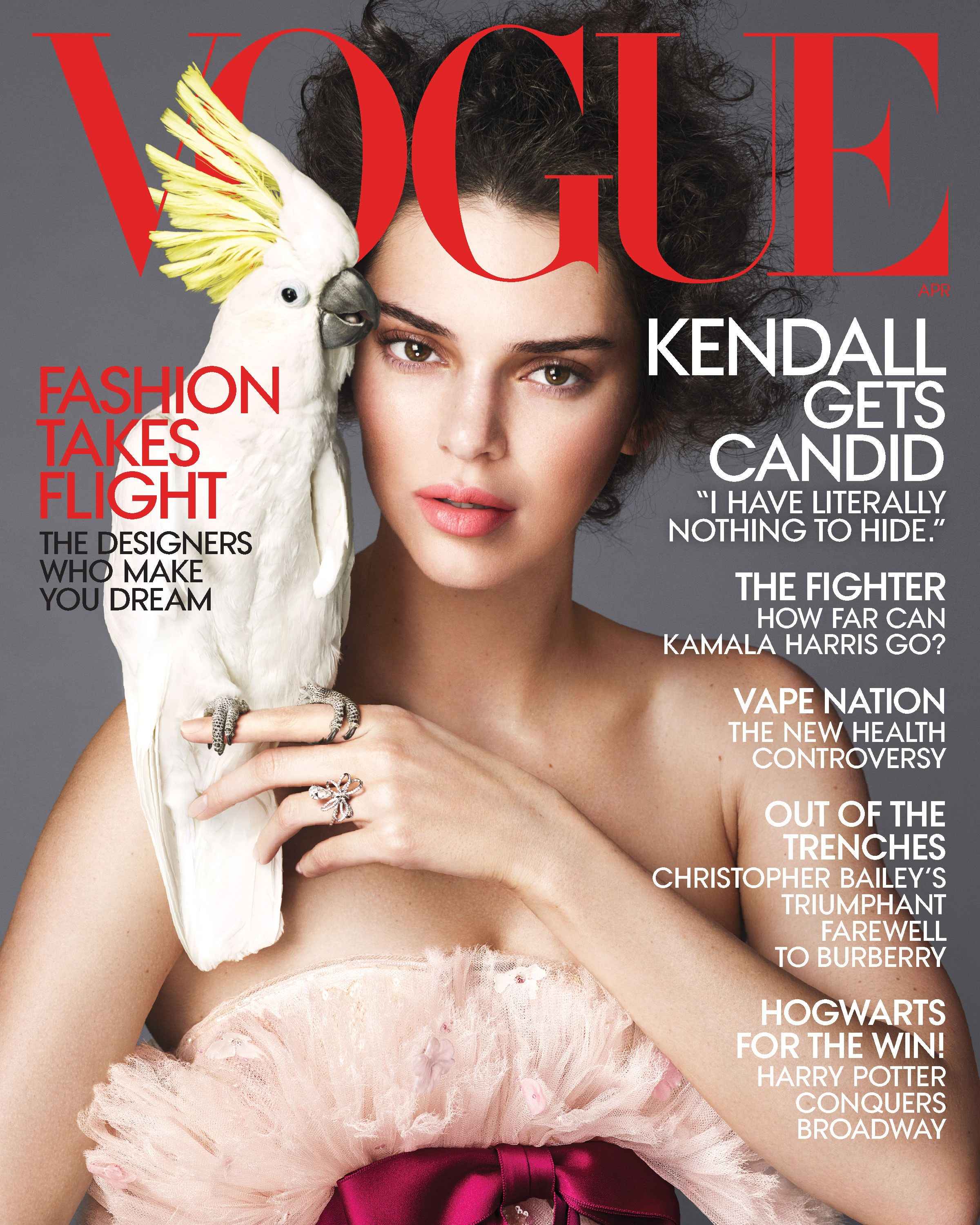 Beautiful American Fashion Model Kendall Jenner Modeling For The Cover Of Vogue Magazine Modeling As The Highest Paid Model In The World. The World's Highest Paid Model. The Top Earning Model In The World.